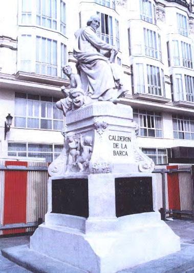 Monumento a Calderón de la Barca. Plaza de Sta. Ana. Madrid