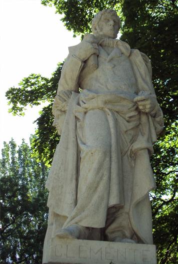 Escultura de Simón de Rojas Clemente. Jardín Botánico. Madrid