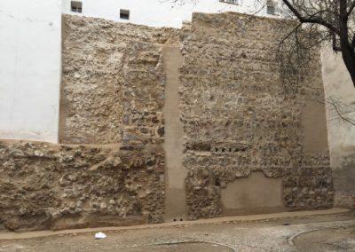 Muralla Cristiana de Madrid. Tramo de la Calle Almendro.