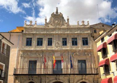 Restauración de las fachadas del Ayuntamiento de Cuenca.