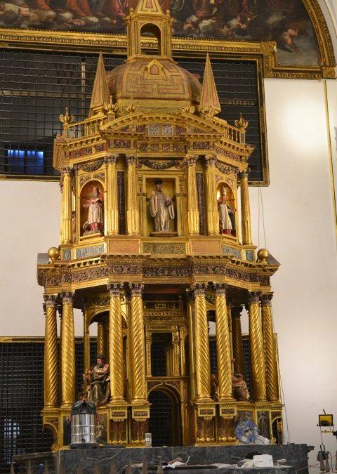 Restauración del Baldaquino del Monasterio de San Bernardo en Alcalá de Henares. Madrid.